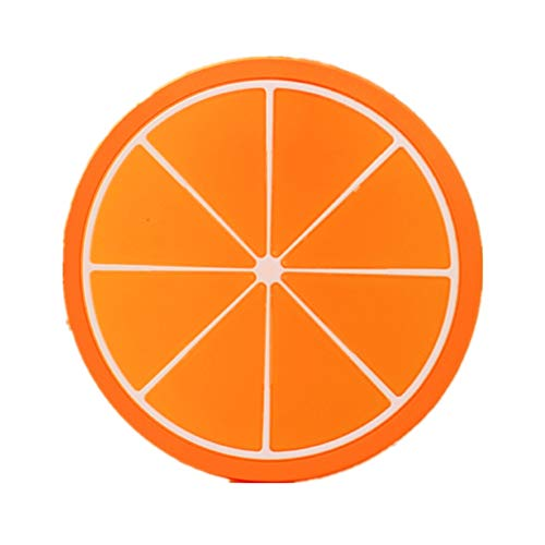 20Stück Frucht Untersetzer Anti-Rutsch Silikon Glasuntersetzer Set Bunt Cup Pads Size Durchmesser:9.0CM, Zufällige Farbe Orange 9cm Green Oval Dutch Oven