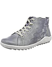 Womens R1470 Hi-Top Trainers, Blue, 4 UK Remonte