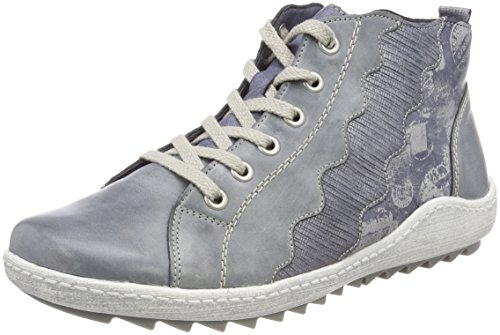 Remonte Damen R1474 High-Top, Blau (Jeans/Denim/Silber), 41 EU