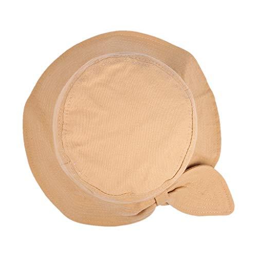 MDenker Sonnenhut Damen Baumwolle UV Schutz Fischerhut Faltbar Bucket Hat mit Verstellbare Kinnband hüte kaufen ohrenwärmer schlapphu