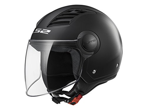 CASCO ECONÓMICO LS2 AIRFLOW COLOR NEGRO MATE