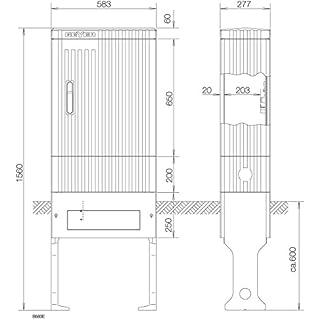 ABN Braun Anschlusssäule FB2 BH4 SL155P