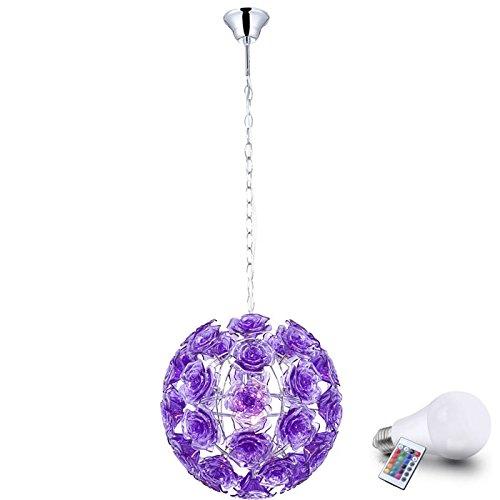 Lampada a sospensione di 7 Watt LED RGB Bl?ten soffitto lampada viola fiori illuminazione di rosa