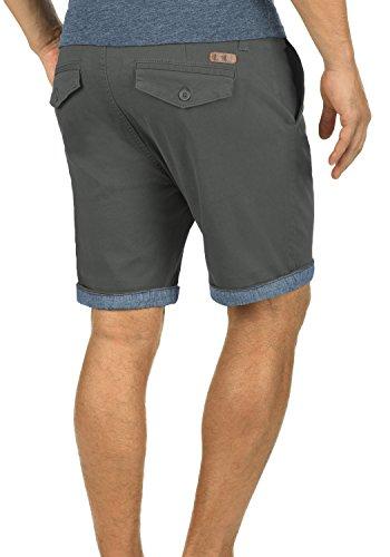 SOLID Lagoa Herren Chino-Shorts kurze Hose Business-Shorts aus hochwertiger Baumwollmischung Dark Grey (2890)