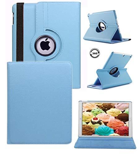 zhülle mit Ständer Drehbar Wake up/Sleep Funktion für Apple iPad 22./3./4. Generation Modell A1430A1403A1458A1460md328ll/A MD510LL/A mc755ll/A Blue Cover iPad 4th/3rd/2st ()