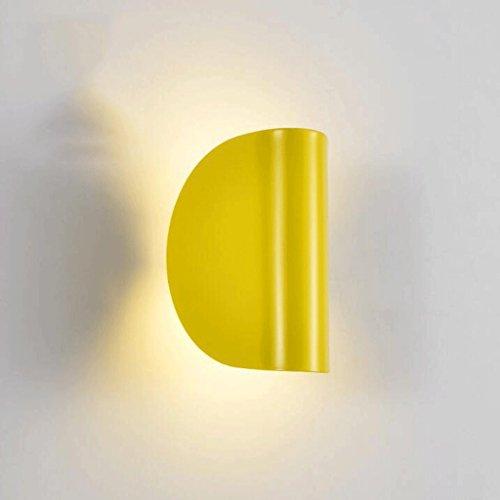 GAODUZI Simple Moderne Mur Chambre Lampe De Chevet Décoré Salon Maison Personnalité Mode Creative Lampe Murale LED 5 W (Couleur : Blanc)