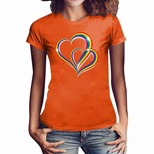 auen Mädchen Plus Size Sommer Print Shirt Kurzarm T-Shirt Bluse ()
