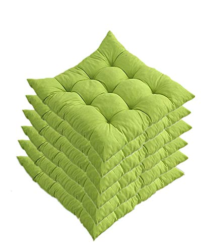 Cuscino Sedia 40x40cm,Set da 6 Cuscini da Sedia Trapuntati 40x40, Cuscini Sedia per Interni ed Esterni - Decorazione di mobili da Giardino di Diversi Colori Cuscini per sedie.