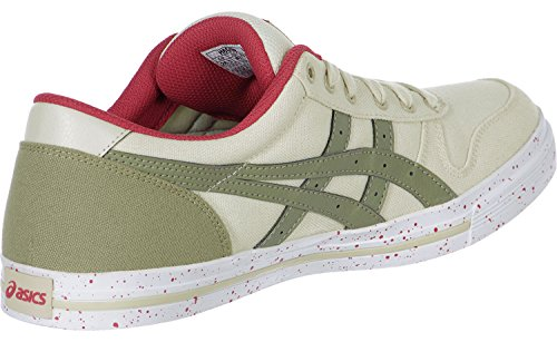 Asics Aaron chaussures beige olive rouge