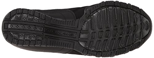 Skechers Bikers Vincitore della scarpa da tennis Black Lycra/Leather