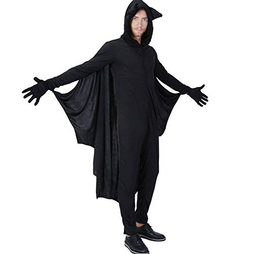 AIYA Halloween Adult Herren Jumpsuit Bat Kleidung Neutral Kinder Performance Kostüm Karneval Ball Kostüm (Kind Bat Kostüm)