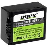 Ayex 1250mAh Power Batterie pour Panasonic DMW- BLB13/13 sexties