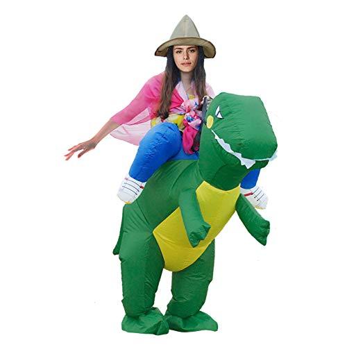 Deanyi Erwachsenes Halloween-Kostüm Cosplay Aufblasbare Weihnachten Dinosaurier Aufblasbare Kleidung Karneval-Party-Performance Service ohne Batterie Grün