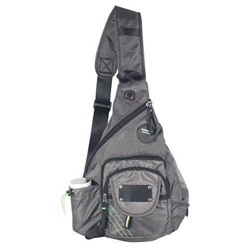 innturt Nylon Sling Bag Tagesrucksack Messenger Rucksack, grau (Sling Nylon-messenger)