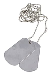 Mil-Com Army Style Dog Tags - Silver by Mil-Com