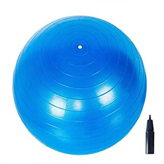 Adeco Static Strength Exercise Stability Ball with Pump, green