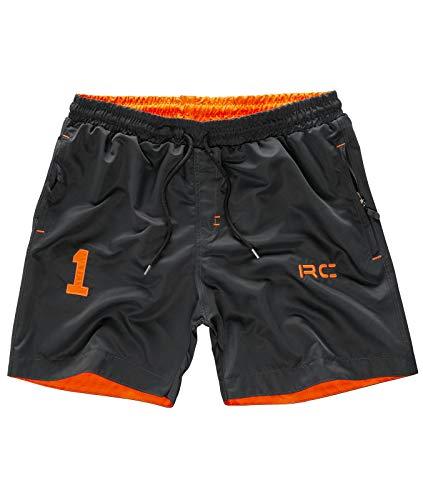 Rock Creek Herren Badeshorts Badehose Schwimmhose Schwimmshort Shorts Sommershorts Strandshorts Sportshorts Bermudas H-176 Grau 3XL