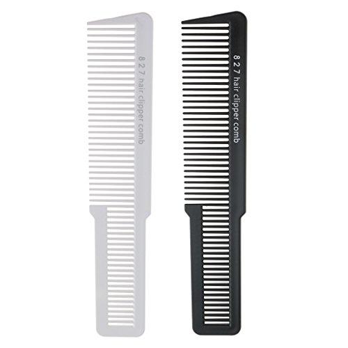 Toygogo 2pcs Pro Flat Top Comb Salon Barber Hair Clipper