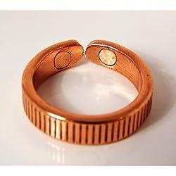 Forrado Diseño Magnético Cobre Anillo Con Presentación Caja de regalo - Medium size 19-21mm