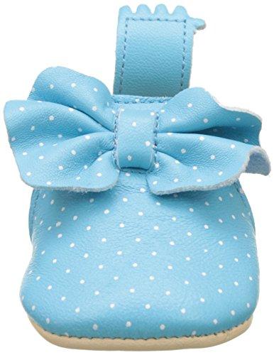Easy Peasy Baby Mädchen Blumoo Noeud Krabbelschuhe Bleu (Bleu Baby/Plumetis Blanc)