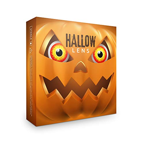 Farbige Kontaktlinsen Horror Clown in rot gelb + Behälter - Top Linsenfinder Markenqualität, 1Paar (2 Stück) (Kreative Paar Halloween Outfits)