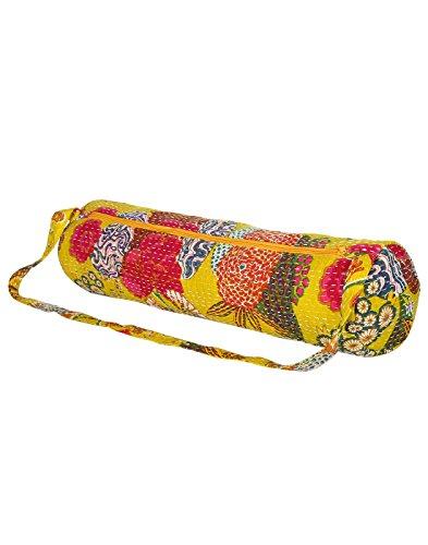 Attraente cotone Sling Bag Ricamato Elephant per le donne By Rajrang Yellow & Green