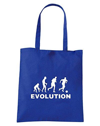 T-Shirtshock - Borsa Shopping EVO0011 Evolution Calcio Maglietta Blu Royal