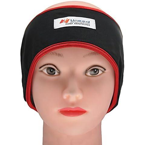 FULLLIGHT TECH Lycra dormir auriculares cancelación de ruido, dormir máscara con Auriculares cómodo ultrafina para viajes, deportes Relajación, Yoga y alivio del insomnio