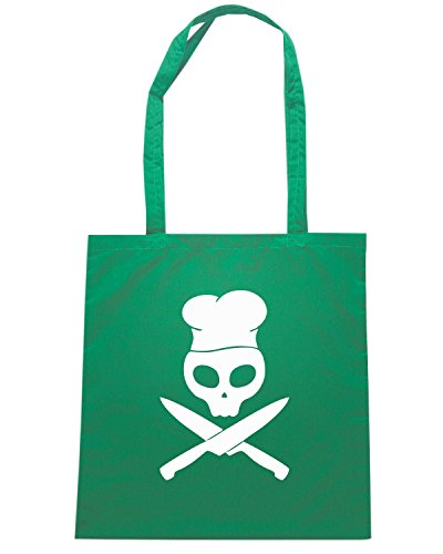 T-Shirtshock - Borsa Shopping TM0446 cook with knives Verde