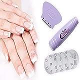 Newin Star Kit de estampado de uñas artístico Impresora de uñas para mujer Herramientas de manicura Máquina de impresión Traje