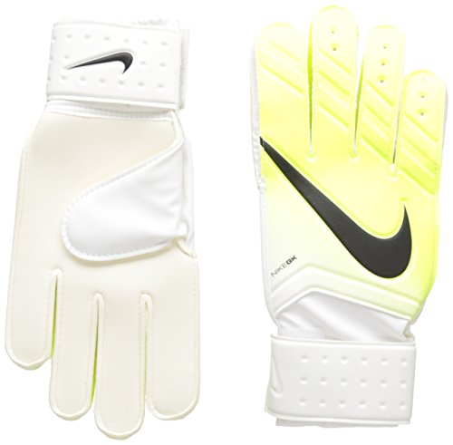 Nike Herren Match Goalkeeper Torwarthandschuhe, White/Volt/Black, 10