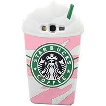 Thunderous rosa Starbucks café helado carcasa de silicona para Samsung Galaxy Grand Prime G530