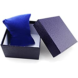 Gift Box Case - TOOGOO(R)Fashion Girl's Present Gift Box Case Earrings Bracelet Bangle Jewelry Watch Box Blue Litchi Textured