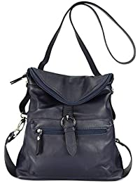 Belli ital. Echt Leder Rucksack Backpack London Handtasche Umhängetasche Rucksacktasche - 28x26x10 cm (B x H x T)