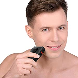 SURKER Electric Shaver for Men, Rechargeable Electric Razor Foil Shaver Beard Trimmer with Precision Trimmer, LED Display, Wet and Dry, Black