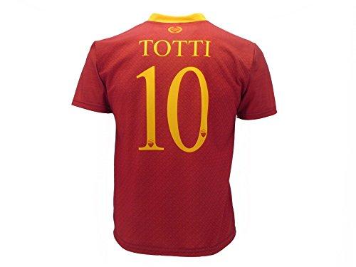 AS Roma Maglia Totti Roma 2019 Ufficiale stagione 2018/2019 Replica Autorizzata Francesco Totti numero 10 (adulto)
