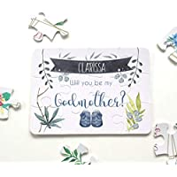 Godmother Proposal, Ask Godparents, Godmother puzzle, Will you be my godmother, Christening gift, puzzle for godmother, baptism christening