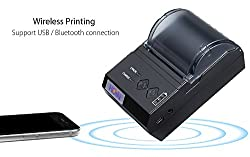 Hoin HOP E200 Mini Thermal Printer and Portable Receipt Machine (Black)