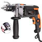 Hammer Drill, Tacklife 850W 3000 RPM Impact Drill with 360°Rotating Hand, Aluminum Machine