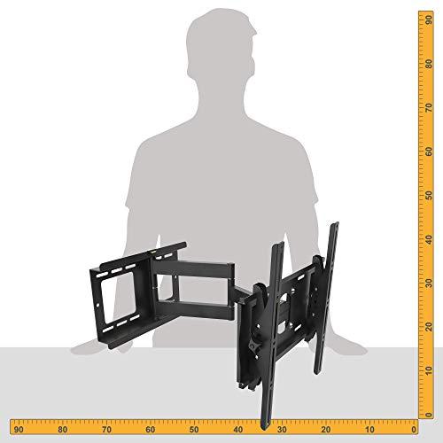 Ansicht vergrößern: RICOO Wandhalterung TV Schwenkbar Neigbar R23 Universal LCD Wandhalter Ausziehbar Fernseher Halterung Curved 4K OLED QLED LED Flachbildfernseher 80cm/32-165cm/65 Zoll VESA 200x200 400x400 Schwarz