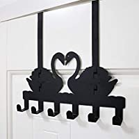 GFF Wardrobe without wall bracket behind the creative door, immaculate fixed support (swan) (color: black)