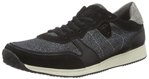 Tamaris 23602, Low-Top Sneaker donna, Multicolore (Mehrfarbig (Blk/Wht Struct 051)), 37