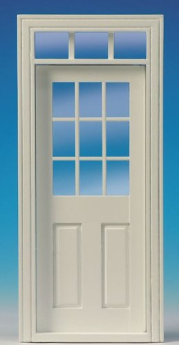 Preisvergleich Produktbild Innentür mit Fenster, Ausschnitt: 78mmx194mm für das Puppenhaus
