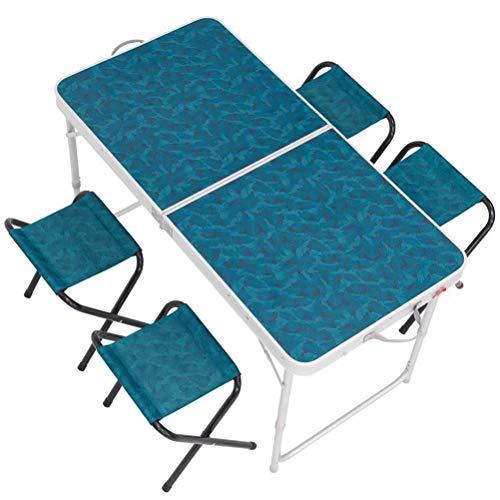 Tragbaren Klapptisch Mit 4 Stühlen Für Camping Party Picknick Garten Esszimmer -