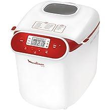 Moulinex OW310130 - Panificadora programable, 700 W, capacidad de 1 kg, color blanco