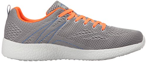 Skechers Platzen Aufwind Herren Sport-Trainer Light Grau/Orange
