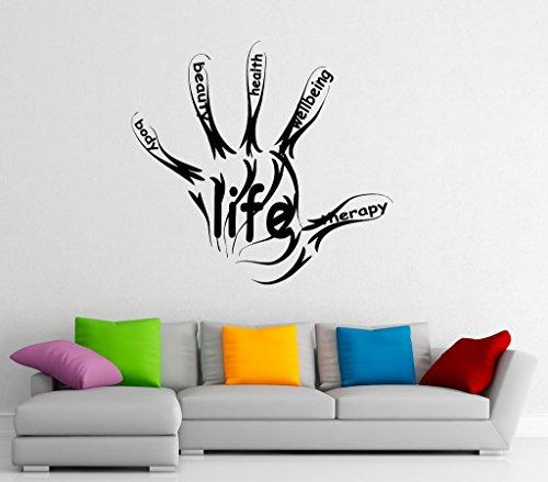 Vita Fitness da parete in vinile adesivi sport, palestra, parole Design Art interni casa decorazioni da parete Decor