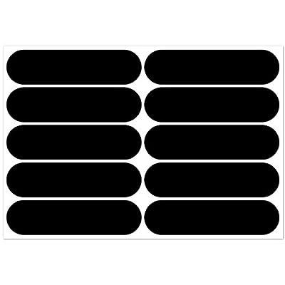 B REFLECTIVE, 10 Stück Kit retro reflektierende Aufkleber, Nacht Sicherheit Signalisierung Klebeband Reflektor, für Fahrrad / Kinderwagen / Motorradhelme / Motorrad / Spielzeug, 7 x 1,8 cm Band, Schwarz
