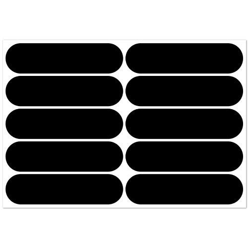 Preisvergleich Produktbild B REFLECTIVE, 10 Stück Kit retro reflektierende Aufkleber, Nacht Sicherheit Signalisierung Klebeband Reflektor, für Fahrrad / Kinderwagen / Motorradhelme / Motorrad / Spielzeug, 7 x 1,8 cm Band, Schwarz