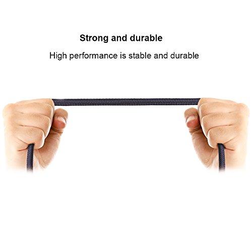 Ankoda® 3Pack 3ft/6ft/10ft iPhone Ladegerät Kabel, Nylon geflochtenes Lightning Kabel für iPhone 7 7Plus 6S 6S Plus 6 6Plus 5S 5C 5, iPad Pro Air, iPad Mini 2 3 4, iPod Nano und mehr (schwarz) - 2
